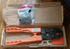 SharkBite 1/2 & 3/4 inch Pex Crimp Tool 23251 w clamp rings MADE IN THE USA