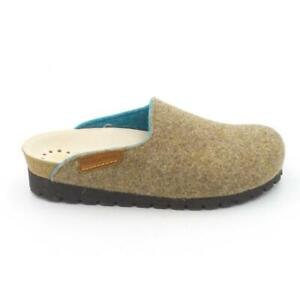 MEPHISTO Nature is Future Wool Clogs Thea Taupe