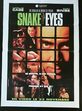N187 Poster Cinema Snake Eyes Nicolas Cage, Gary Sinise, Brian of Palma