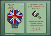 Royale Classic Car Badge & Bar Clip UNION JACK ROYAL Mod Ulma Vigano B1.2355