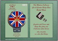 Royale Classic Car Badge & Bar Clip UNION JACK ROYAL Mod Ulma Vigano B1.2355