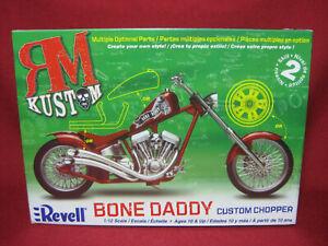 BONE DADDY Custom Chopper RM Kustom Motorbike Revell Monogram 1:12 Kit 7317