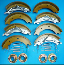 2 Axle Sets of 200x50 KNOTT Type Trailer Brake Shoes & NUTS HB505 IFOR WILLIAMS