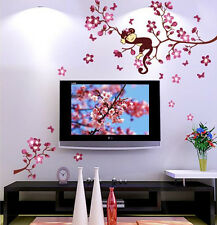 Beautiful Removable Vinyl Quote DIY Cute Monkey Wall Sticker Decal Mural Decor