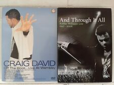 2 DVD MUSICAUX: ROBBIE WILLIAMS AND THROUGH IT ALL + CRAIG DAVID - OFF THE HOOK