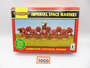 Warhammer 40,000 Imperial Space Marines Tactical Squad EMPTY BOX 1000-859