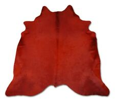 Brazilian Cowhide Fur Rug - Dyed Solid Cardinal Red - 6.5x7.5  NEW