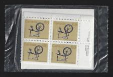 """Canada Stamps - 4 Blocks of 4 — 1985, Artifact: """"Spinning wheel"""" #933 PL1 / MNH"""