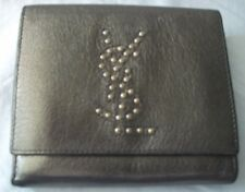 Yves Saint Laurent Metallic Leather Ladies Wallet