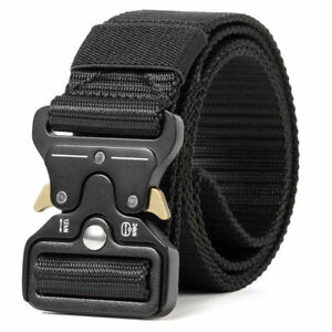 MEN Casual Military Tactical  Army  Adjustable  Quick Release  Belts NEW