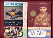 2 Oliver Sacks books: An Anthropologist on Mars   Uncle Tungsten - Free Shipping