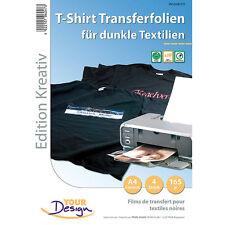 Aufbügelfolie: 4 T-Shirt Transferfolien für bunte Textilien A4 Inkjet