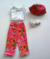 Barbie Fashion Avenue Charm 2000 Summer Tour 27292 No Box Pink Capri Pants & Hat