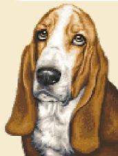 Bassett Hound Dog Complete Counted Cross Stitch Sewing Kit