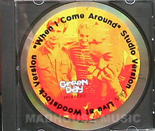 GREEN DAY CD When I Come Around LIVE USA PROMO with  XL STICKER Rare UNPLAYED