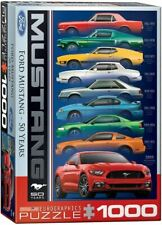 Ford Mustang 50 Years Jigsaw Puzzle - 9 Mustangs 1000 Pieces - Free USA Shipping
