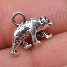 30pcs Tibetan silver bear charm  Pendants Making Jewelry  15MM