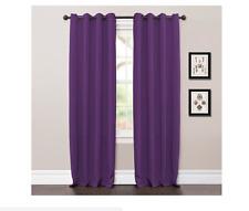 Lush Decor Purple Jamel Rod Pocket Window Curtain Panels, Pair of 2 Panels 52x84
