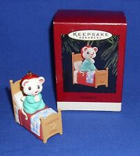 Hallmark Christmas Ornament Godchild 1996 Mouse Saying Bedtime Prayers NIB