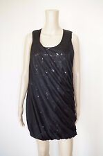 GBP230 DIESEL BLACK GOLD sz S WOMENS DRESS SOLID COCKTAIL NEW YEAR SHINY SEQUINS