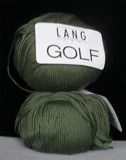LANG GOLF MERCERIZED COTTON FINGERING SOCK YARN 1 BALL KNAPSACK GREEN (19E)
