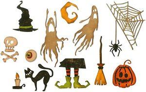 Sizzix Thinlits Frightful Things #664209 17pk set Retail $19.99 Tim Holtz