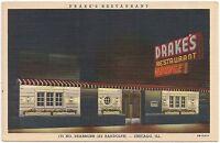 Drake's Restaurant in Chicago IL Postcard