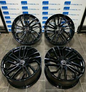 AUDI 20'' INCH RS5 STYLE NEW BLACK ALLOY WHEELS AUDI A4 A5 A6 A7 S5 S6 S7 Q3 Q5