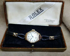VINTAGE ROLEX TUDOR SOLID 9K GOLD MANUAL WIND LADIES WATCH WITH BOX