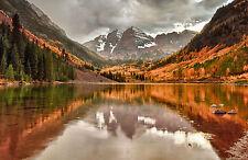 Incorniciato stampa-Lago di montagna (PICTURE POSTER NATURE ACQUA alberi SCENIC ART)