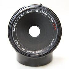 Canon FD S.S.C. 50mm 1:1 Macro 50mm f/3.5 1:1 Micro Prime Lens FD Mount (C1160)