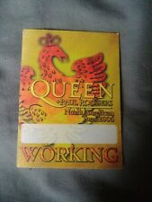 Rare Nos Queen backstage working pass North American Tour 2006 Paul Rodgers