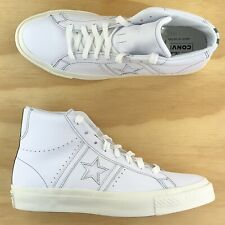 Converse One Star Academy Sage Elsseser Hi Top White Leather Shoes 167504C Size