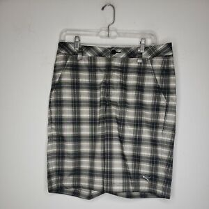 Puma Men's Shorts Size 30 Tan Black Plaid Sport Lifestyle Golf Outdoor Casual