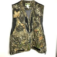 Vtg Game Winner Camo Bird Hunting Black Mesh Vest Size XL Breathable