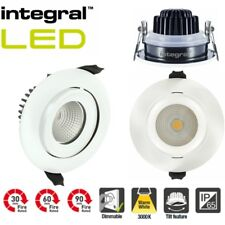 Integral LED adjustable IP65 Fire Rated Dimmable Downlight Ceiling Warm White 6W