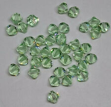24pc Swarovski Crystal Chrysolite (Pastel Green) 5mm Bicone 5328 Bead