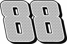 "#88 Dale Earnhardt Jr Racing Sticker Decal CUSTOM 18"" x  26"" 2 PACK"