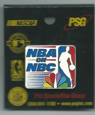 NBA on NBC Peacock Square Pin Pro Specialties Group 2000 Basketball Logo OOP