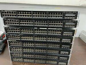 Cisco WS-C3650-48FS-L 48-Port PoE+ 3650 Switch DUAL AC Power