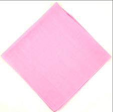 "6x 100% Cotton Bandana - Pink - Standard 22"" x 22"" - Kerchief Doo-rag Wrap"