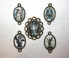 St.Michael Archangel Rosary Parts set~Center, 4 Pater Image Medals~Free Shipping