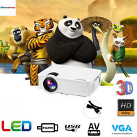 "MINI LED/LCD Projector FULL HD 1080P 7000Lumens 3D Home Cinema HDMI +100"" Screen"