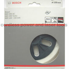 Bosch HARD 150mm Sanding Backing Pad GEX 150 AC TURBO 125-150 AVE  2 608 601 116