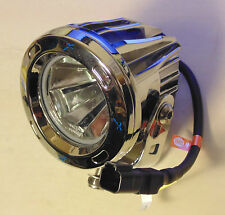 "Vision X Optimus Round Chrome 3.7"" LED Pencil Beam Driving Light x2 KIT suit 4WD"