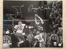 DWIGHT CLARK SIGNED 16x20 PHOTO    49ers   HAND DRAWN DIAGRAM OF THE CATCH   JSA