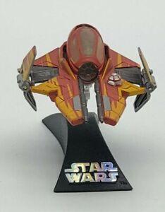 Star Wars Jedi Starfighter Titanium Series Die Cast Vehicle Orange/Red