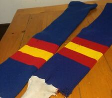 Vintage Red Yellow Blue Men's Hockey Socks With Stirrups 30""