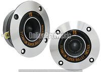 Mr. Dj HDT800S Pair 4-Inch Aluminum Bullet Titanium Horn Tweeter Driver (Chrome)