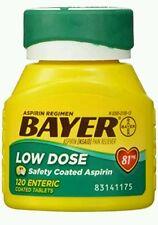Bayer Aspirin Regimen Low Dose 81mg Enteric Coated Tablets 120 Each